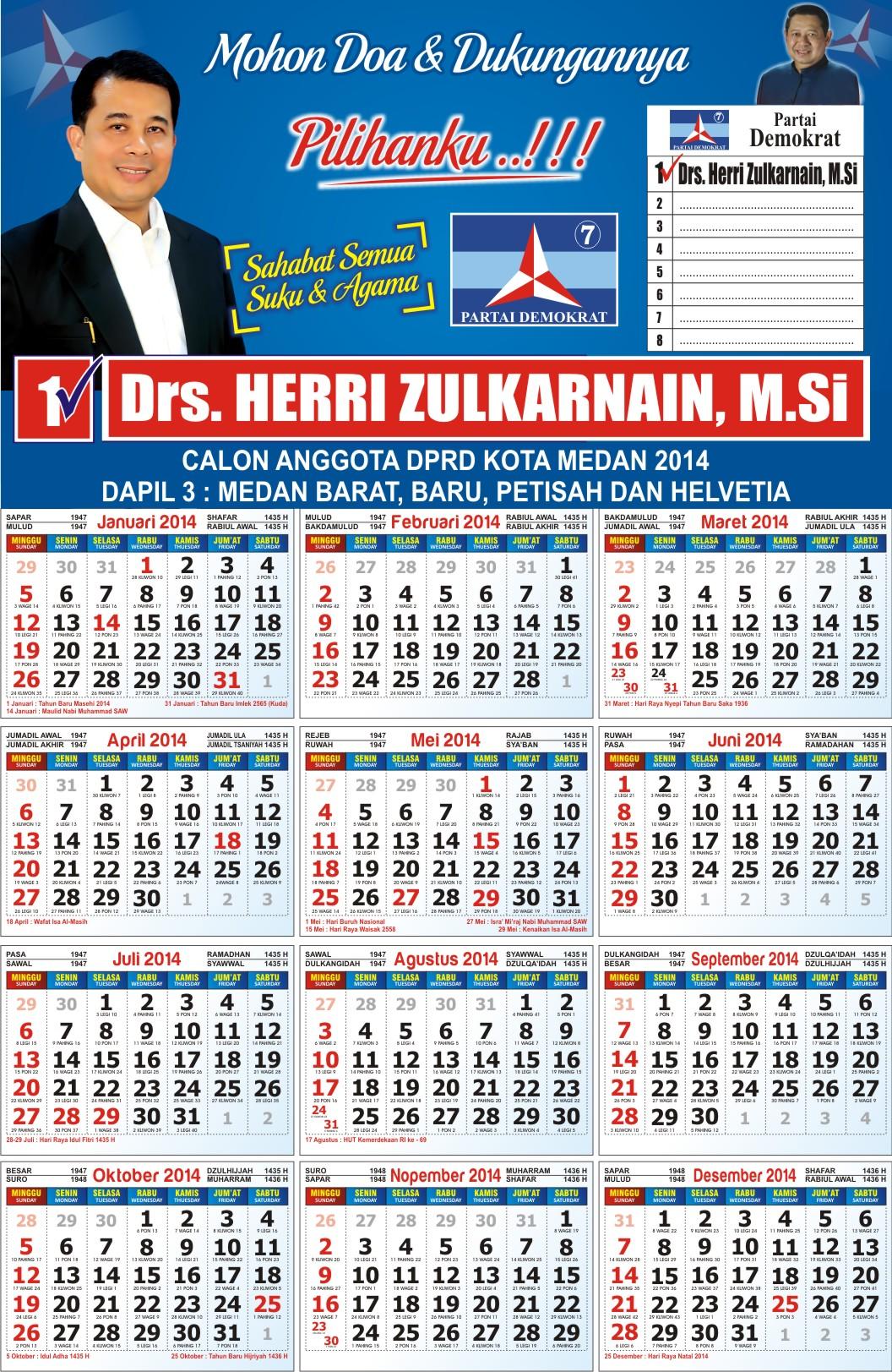 Klik Disini Free Download Kalender 2014 cdr komplit ini